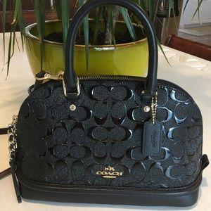 Coach Mini Sierra Signature Patent Satchel Handbag